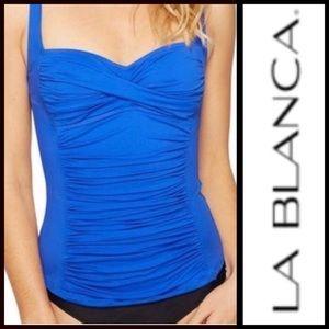 🔵New w tags! La Blanca Sapphire Blue Tankini Top